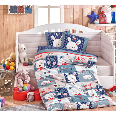 Детское постельное белье Snoopy Синее Hobby