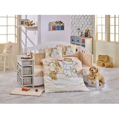 Детское постельное белье Snowball Бежевое Hobby