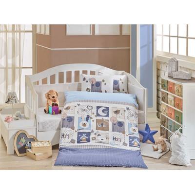 Детское постельное белье Sweet Home Голубое Hobby