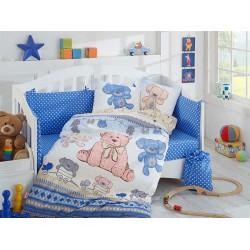 Детское постельное белье Tombik Голубое Hobby
