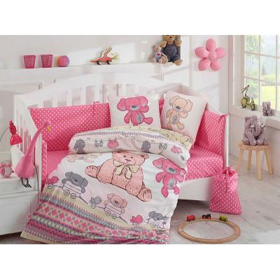 Детское постельное белье Tombik Розовое Hobby