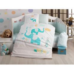 Детское постельное белье Pretty бирюзовое Hobby