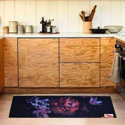 Коврик для кухни COOKY BLACK ROSE IzziHome