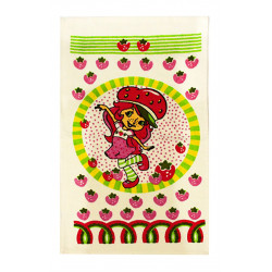 Кухонное махровое полотенце Девочка Клубничка IzziHome