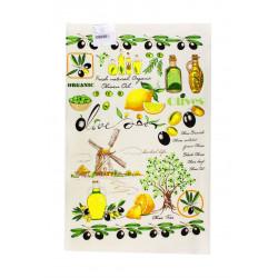 Кухонное махровое полотенце Оливки IzziHome