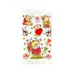 Кухонное махровое полотенце Медвежата IzziHome