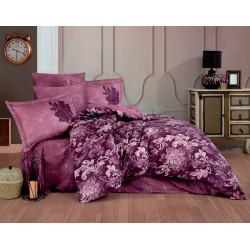 Комплект постельного белья Exclusive Sateen ADELE бордовое Hobby