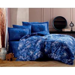 Комплект постельного белья Exclusive Sateen ADELE синее Hobby