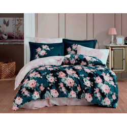 Комплект постельного белья Exclusive Sateen ADRIANA темнорозовое Hobby