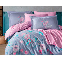Комплект постельного белья Exclusive Sateen CALVINA сиреневое Hobby