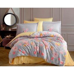 Комплект постельного белья Exclusive Sateen CALVINA серое Hobby