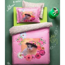 Подростковое постельное белье Gatto Розовое Ранфорс Karaca Home