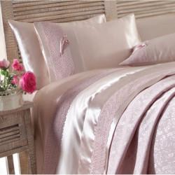 Набор постельного белья с покрывалом пике Tugce g. Kurusu Karaca Home
