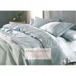 Набор постельного белья с покрывалом пике Tugce su yesil Karaca Home