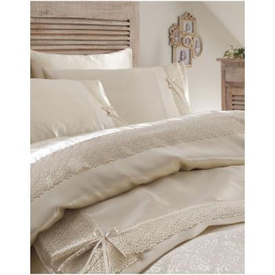 Набор постельного белья с покрывалом пике Tugce bej Karaca Home