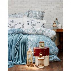 Набор постельное белье с покрывалом Mathis turquise Karaca Home
