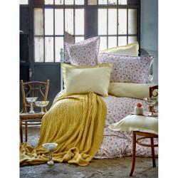 Набор постельное белье с пледом Freya green Karaca Home