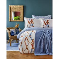 Набор постельное белье с пледом Shaggy mavi Karaca Home