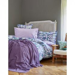 Набор постельное белье с пледом Melange mor Karaca Home