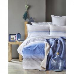 Набор постельное белье с пледом Lapis indigo Karaca Home