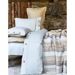 Набор постельное белье с пледом Woodley mavi Karaca Home