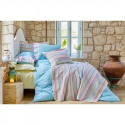 Набор постельное белье с покрывалом Mood ZigZag Karaca Home