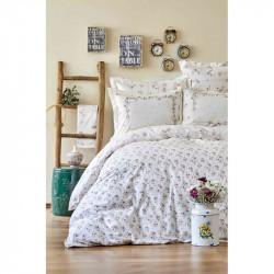 Набор постельное белье с покрывалом пике Lela somon Karaca Home