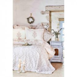 Набор постельное белье с покрывалом Matteo bej Karaca Home