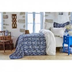 Набор постельное белье с покрывалом Elina beyaz Karaca Home