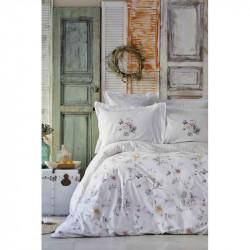 Набор постельное белье с покрывалом Luminosa somon Karaca Home