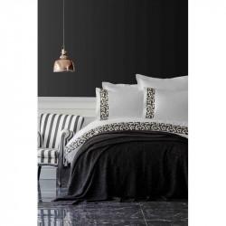 Набор постельное белье с пледом Blaze siyah Karaca Home