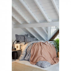 Набор постельное белье с пледом Alto gri Karaca Home