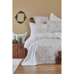 Набор постельное белье с покрывалом + плед Sonora gold Karaca Home