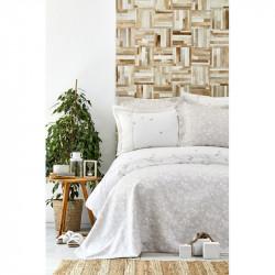 Набор постельное белье с покрывалом Mariposa gold Karaca Home