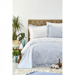 Набор постельное белье с покрывалом Mariposa gri Karaca Home