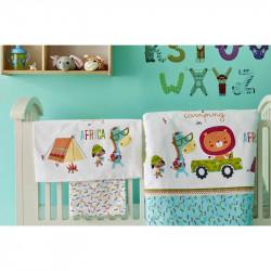Белье для младенцев Camping turkuaz бирюзовое ранфорс Karaca Home