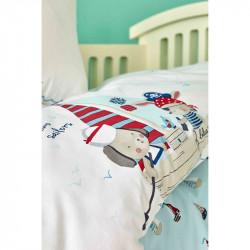Белье для младенцев Rover mavi голубое ранфорс Karaca Home