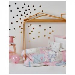 Детский плед в кроватку Honey Bunny pembe Karaca Home