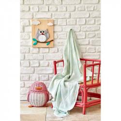 Детское покрывало пике Baby star yesil зеленое Karaca Home