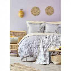 Набор постельное белье с покрывалом Veronica gri серый Karaca Home