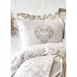 Постельное белье Сатин Quatre royal gold золотое Karaca Home