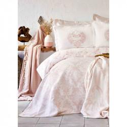Постельное белье Сатин Quatre royal pudra пудра Karaca Home