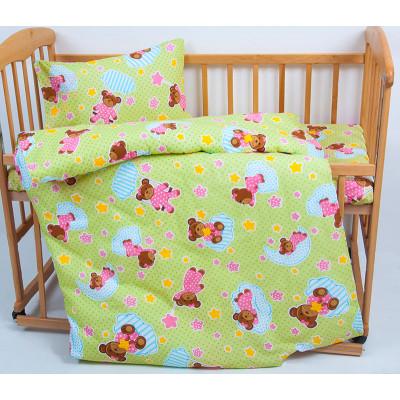 Детское постельное белье Ранфорс BoBi Зеленое LOTUS