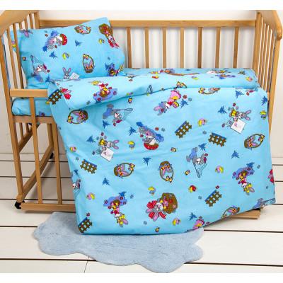 Детское постельное белье Ранфорс JiMi Голубое LOTUS