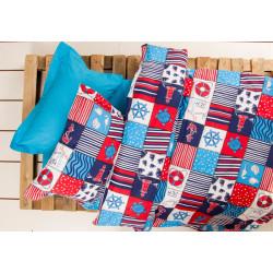 Подростковое постельное белье Premium B&G Marine Синее LOTUS