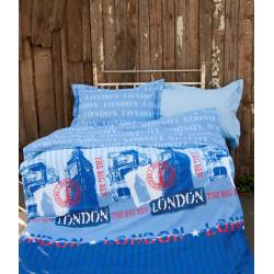 Подростковое постельное белье Premium B&G Slang Голубое LOTUS