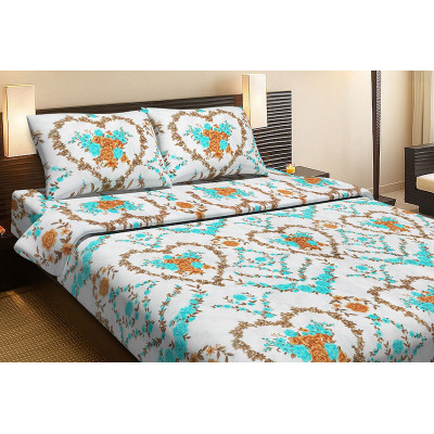 Комплект постельного белья WEDDING Бирюзовый Ранфорс LOTUS