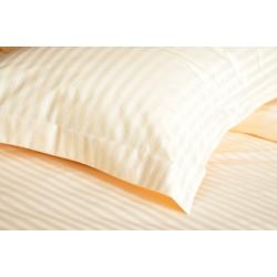 Однотонное постельное белье Сатин Страйп Ваниль 1х1 см LOTUS