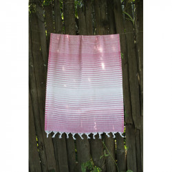 Полотенце Pestemal Pink Micro stipe LOTUS
