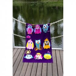 Полотенце пляжное Owls Family Велюр LOTUS